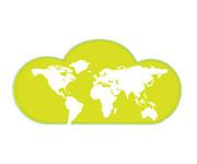 Internet Service Provider, World map graphic