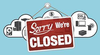 Cloud Closed - A Rundown of 2014 Shutdowns - Featured Image