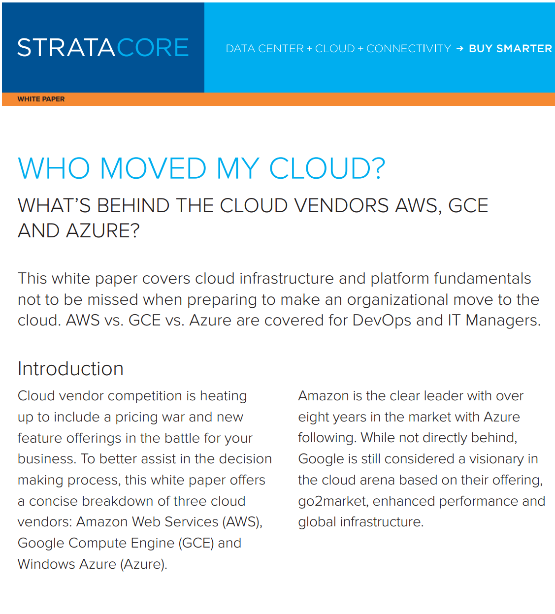 Who Moved My Cloud White Paper