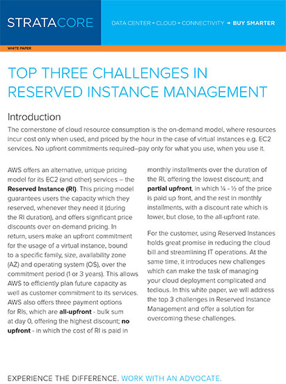 Top three challenges with reserved instance management